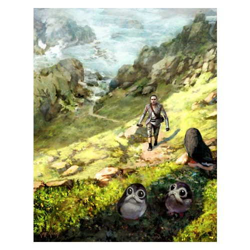 Star Wars In Training by Cliff Cramp Canvas Giclee Art Print