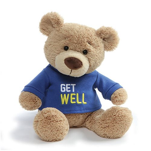 Teddy Bear Get Well Blue T-Shirt Plush