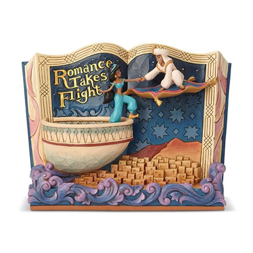 Disney Traditions Aladdin Romance Takes Flight Storybook Statue by Jim Shore