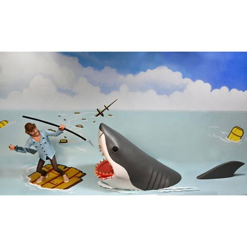 Jaws Toony Terrors Jaws and Quint 6-Inch Scale Action Figure 2-Pack