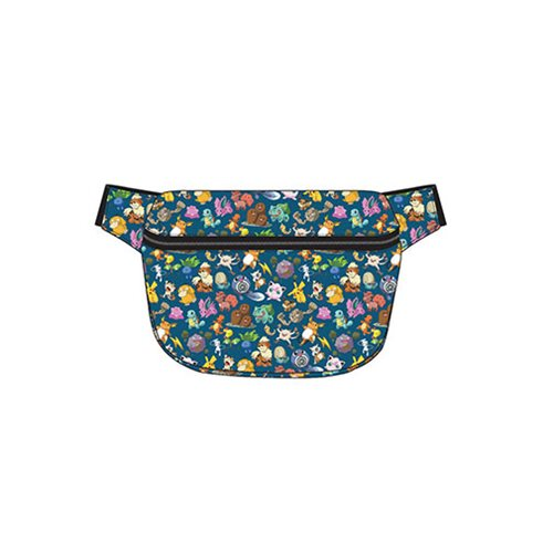 Pokemon Character Print Blue Fanny Pack