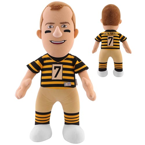 NFL Pittsburgh Steelers Ben Roethlisberger Alternate Striped Uniform 10-Inch Plush Figure