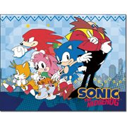 Sonic the Hedgehog City Group Sublimation Throw Blanket