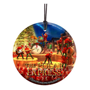 The Polar Express Elves StarFire Prints Hanging Glass Print