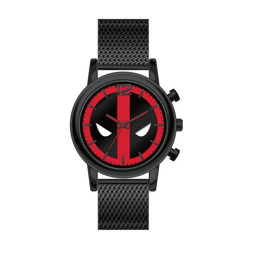 Deadpool Black Mesh Metal Watch