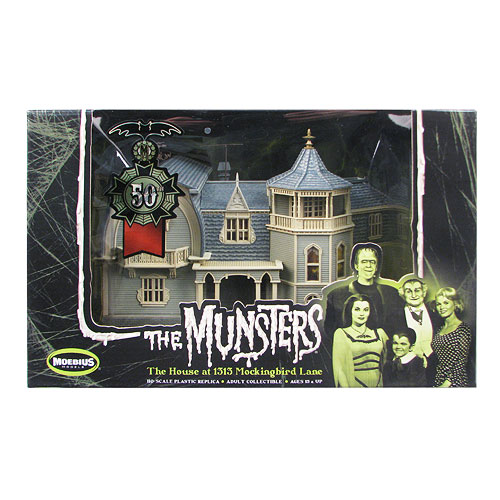 The Munsters' House HO Scale Preassembled Model Kit