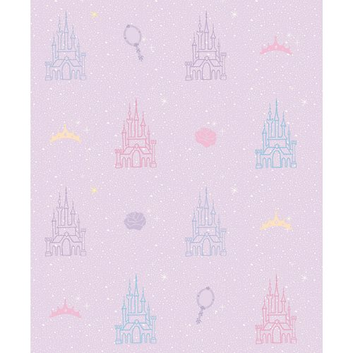 Disney Princesses Castle Purple Peel and Stick Wallpaper