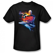 Star Trek the Next Generation 25th Anniversary Black T-Shirt