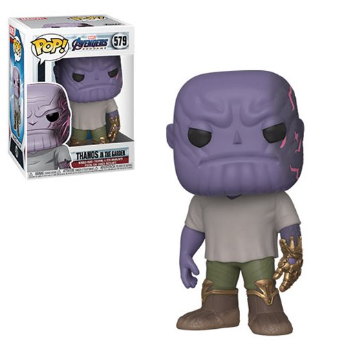Avengers: Endgame Casual Thanos with Gauntlet Pop! Vinyl Figure, Not Mint