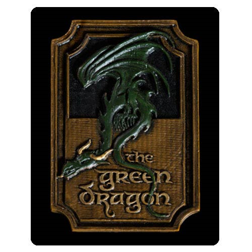 Lord of the Rings The Green Dragon Sign Magnet
