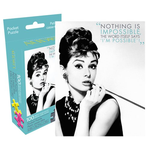 Audrey Hepburn Quote 100-Piece Pocket Puzzle