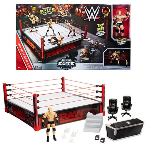 WWE Elite Authentic Scale Raw Main Event Ring Playset