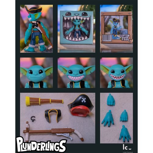 Plunderlings Captain Teel 1:12 Scale Action Figure