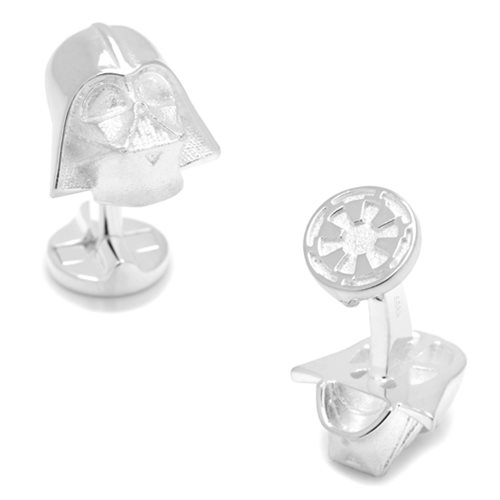 Star Wars Darth Vader 3D Sterling Silver Cufflinks