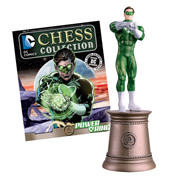 DC Superhero Power Ring Black Bishop Chess Piece with Collector Magazine