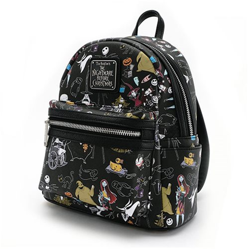 nightmare before christmas character print saffiano mini backpack - The Nightmare Before Christmas Backpack