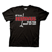 Seinfeld It's Festivus For The Rest Of Us Black T-Shirt
