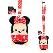 Minnie Mouse Red Deluxe Lanyard with Card Holder
