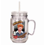I Love Lucy Vitameatavegamin Mason-Style Plastic Jar with Lid and Handle