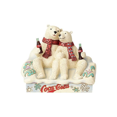Coca-Cola Polar Bear Couple Taste the Feeling Statue by Jim Shore