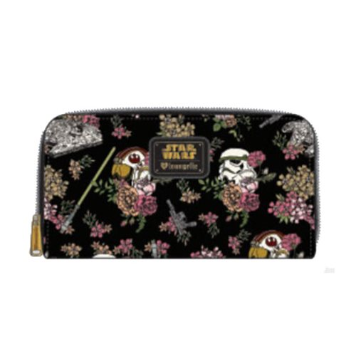 Star Wars Stormtrooper Floral Print Zip Around Wallet