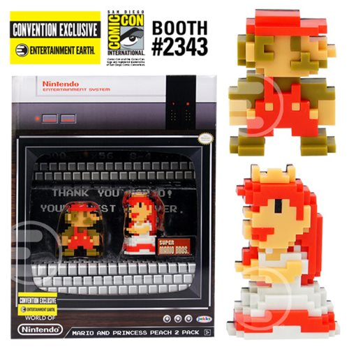 World of Nintendo Super Mario and Princess Peach 8-Bit Mini-Figures 2-Pack - Convention Exclusive