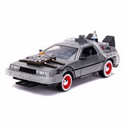Back to the Future 3 Time Machine 1:24 Scale Die-Cast Metal Vehicle with Lights