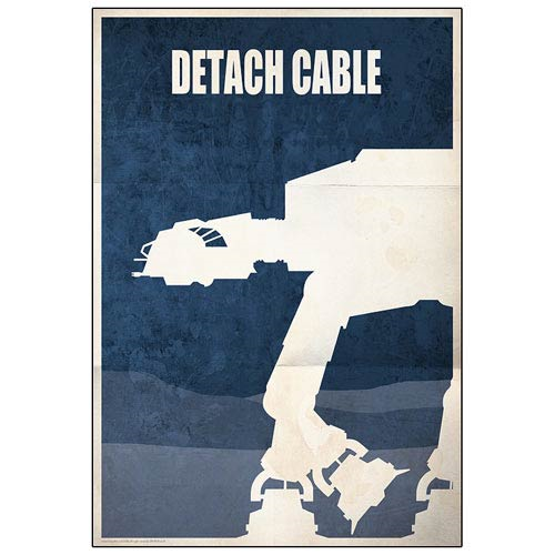 Star Wars Detach Cable AT-AT Walker Battle of Hoth Paper Giclee Print