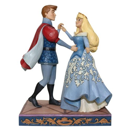 Disney Traditions Sleeping Beauty Aurora and Prince Phillip Swept Up in the Moment Statue