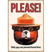 Smokey Bear Tin Sign