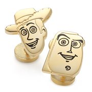 Toy Story Woody and Buzz Gold Pair Cufflinks