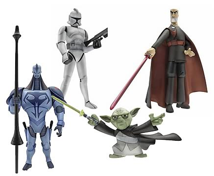 SW Clone Wars Animated Figures Wave 2