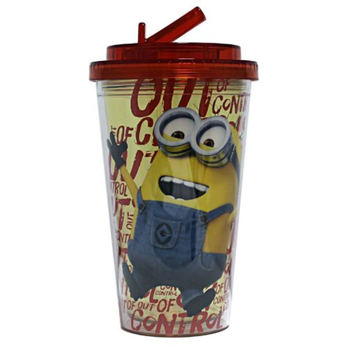 Despicable Me Out of Control 16 oz. Flip-Straw Travel Cup
