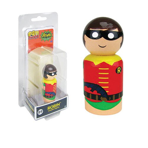 Batman TV Series Robin with Batarang Pin Mate Wooden Figure