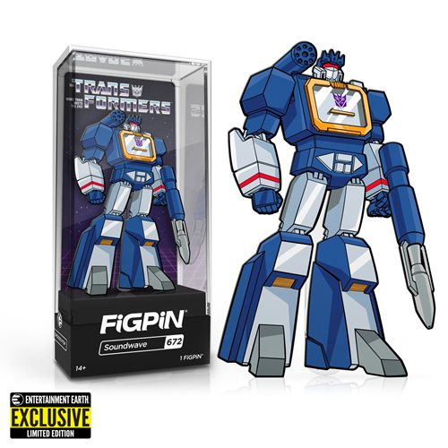 Transformers G1 Soundwave FiGPiN Classic Enamel Pin - Entertainment Earth Exclusive