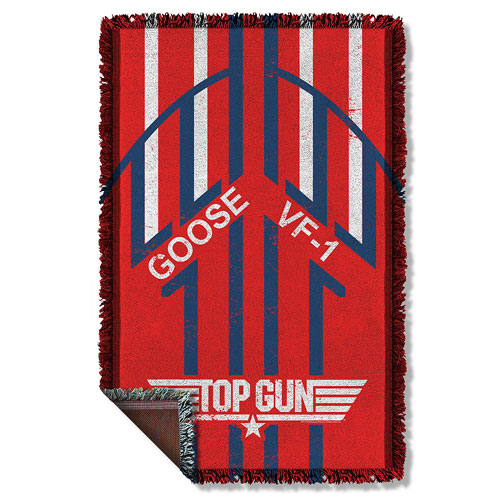 Top Gun Goose Woven Tapestry Throw Blanket