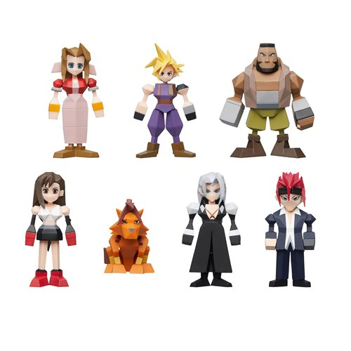 Final Fantasy VII Polygon Figures Display Tray