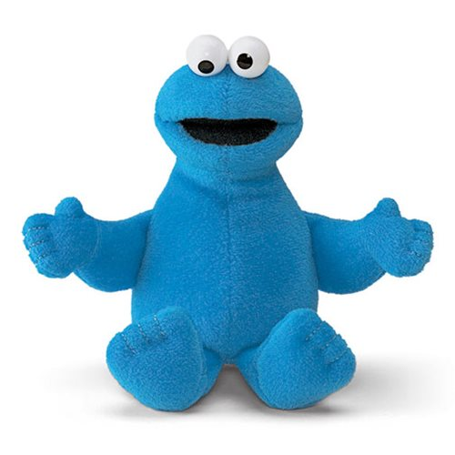 Sesame Street Cookie Monster Beanbag 6 1/2-Inch Plush