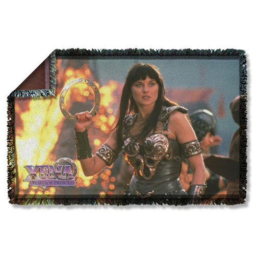 Xena: Warrior Princess Chakram Woven Tapestry Throw Blanket