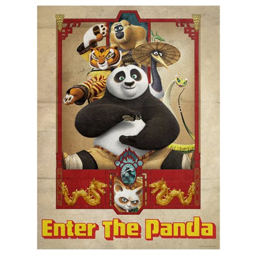 Kung Fu Panda Enter the Panda by Louis Solis Lithograph Art Print