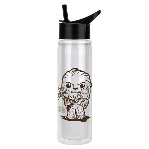 Star Wars: The Last Jedi Chewbacca and Porg Water Bottle