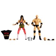 "WWE Goldberg and Bret ""Hitman"" Hart Elite Collecti, Not Mint"