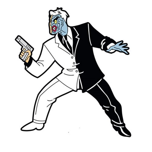 Batman: The Animated Series Two-Face Mega Magnet