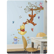 Winnie the Pooh Swinging for Honey Peel and Stick Wall Decal