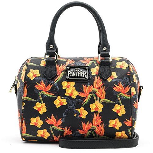 Black Panther Floral Duffle Purse