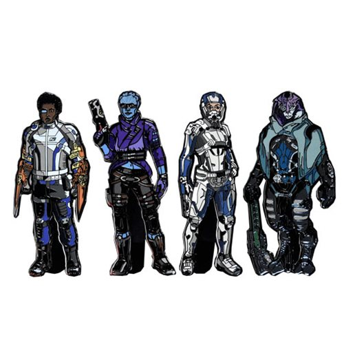 Mass Effect Andromeda FiGPiN Enamel Pins 6-Pack Display Case