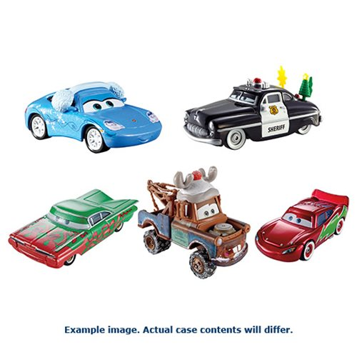 Cars Holiday Die-Cast Metal Vehicles Case