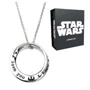 Star Wars I Love You I Know Mobius Necklace