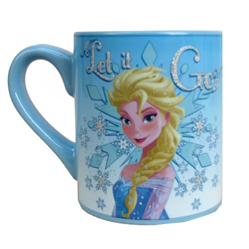 Disney Frozen Elsa Let it Go Glitter 14 oz. Mug