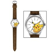 Pokemon Pikachu Brown Fabric Strap Watch